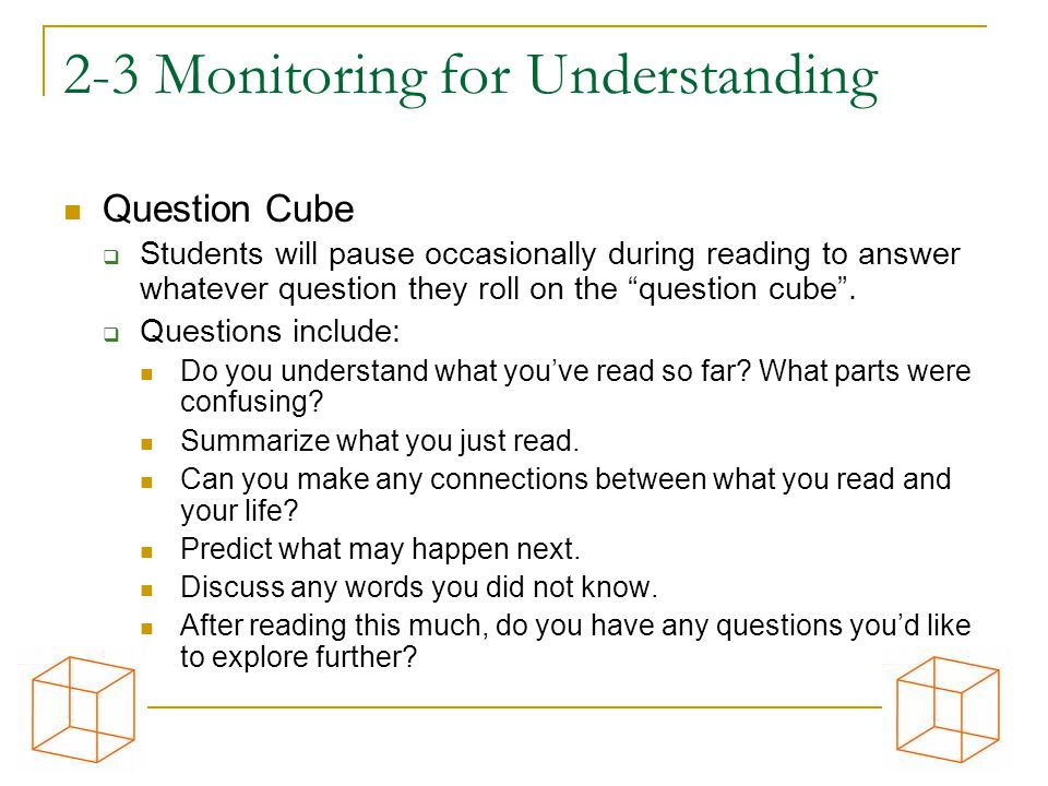 2-3 Monitoring for Understanding