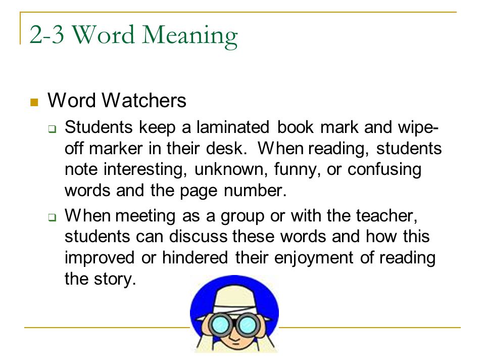 2-3 Word Meaning Word Watchers