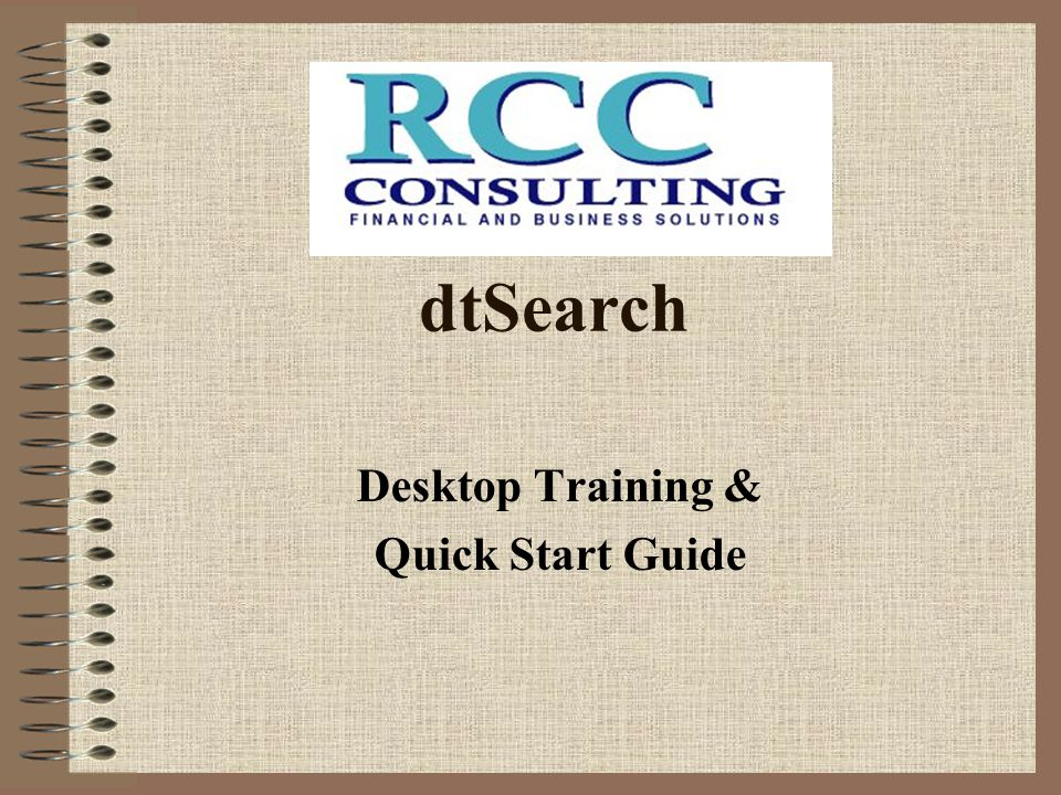 Desktop Training & Quick Start Guide