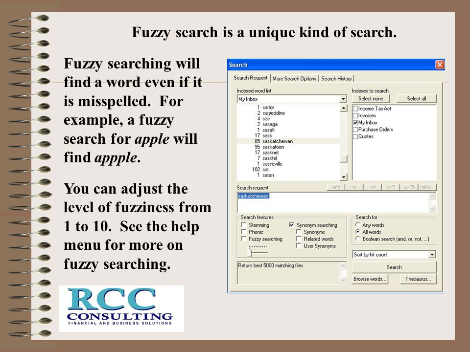 Fuzzy search is a unique kind of search.