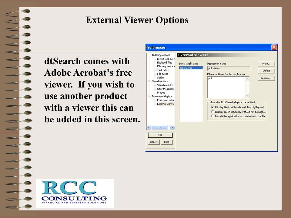 External Viewer Options