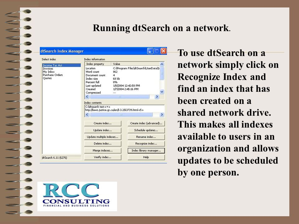 Running dtSearch on a network.