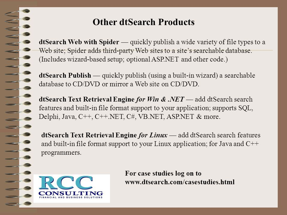 Other dtSearch Products