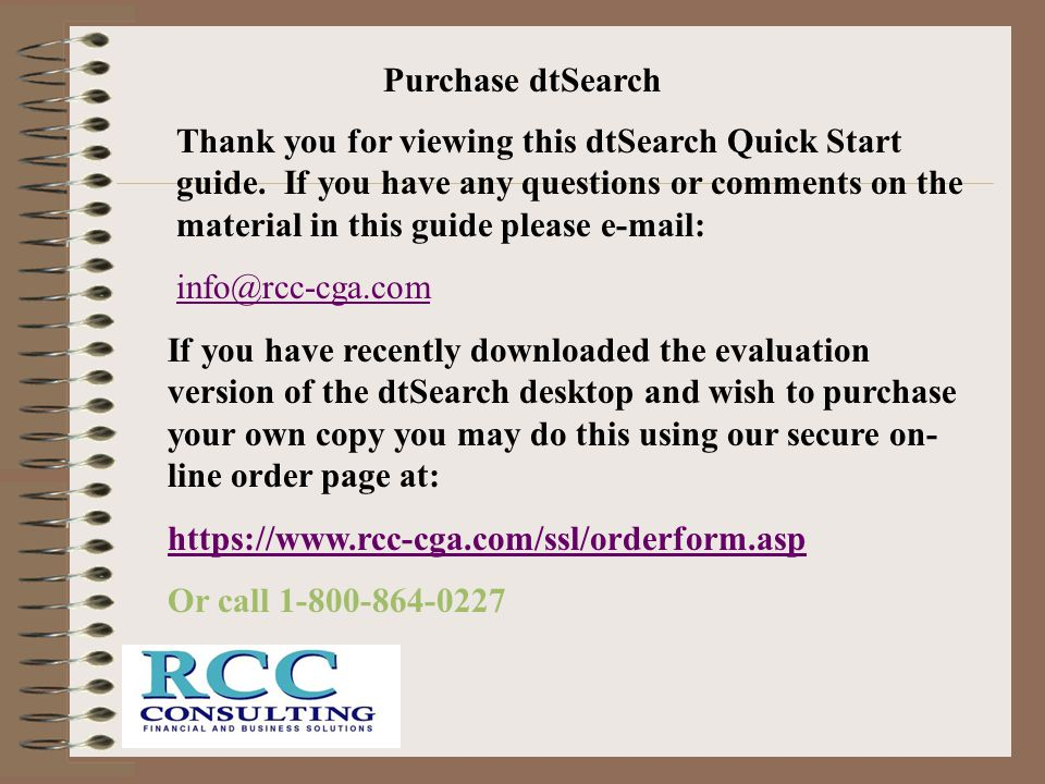 Purchase dtSearch