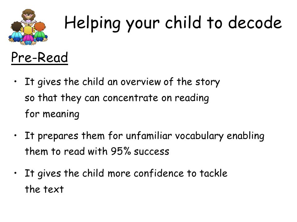 Helping your child to decode