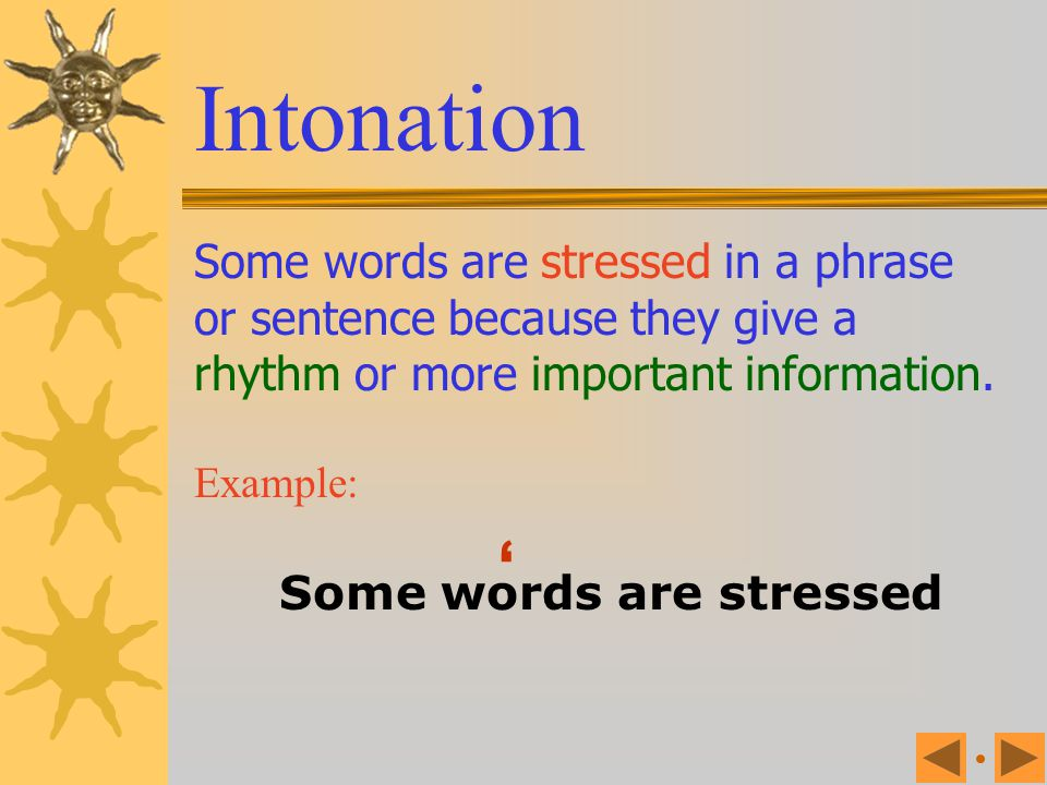Some words are stressed