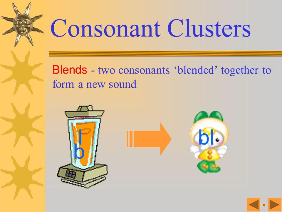 Consonant Clusters l bl b