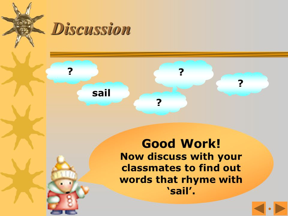 Discussion Good Work! sail