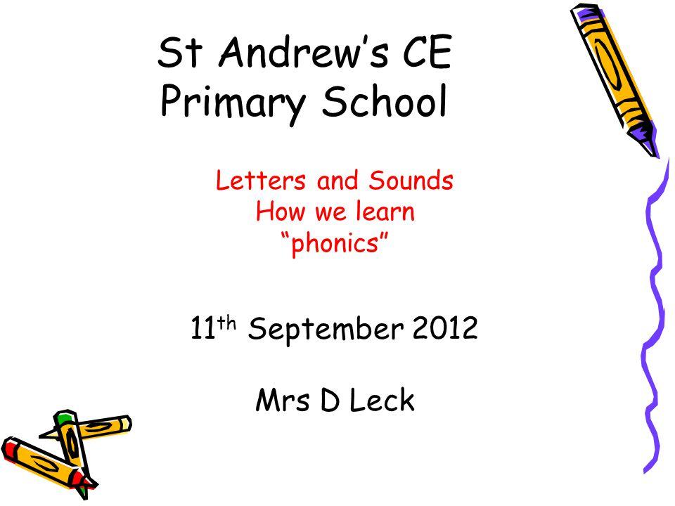 St Andrew's CE Primary School
