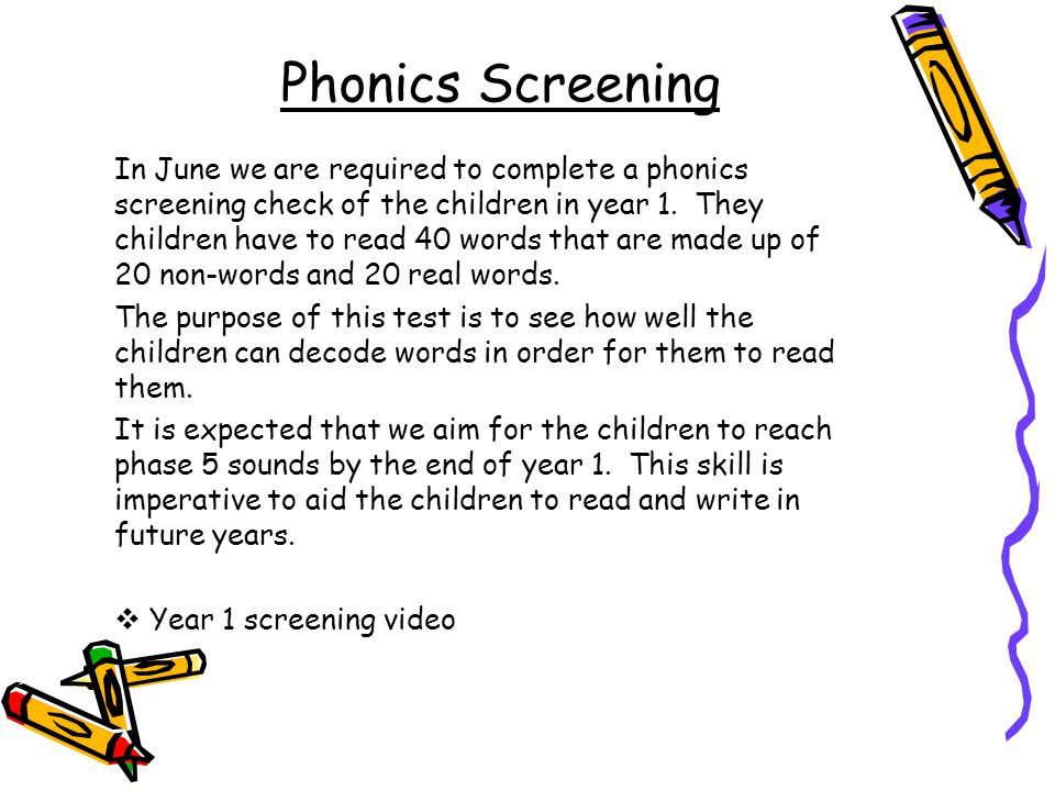 Phonics Screening