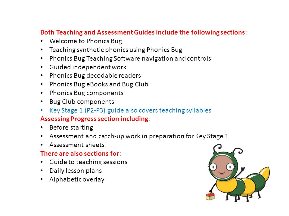 Both Teaching and Assessment Guides include the following sections: