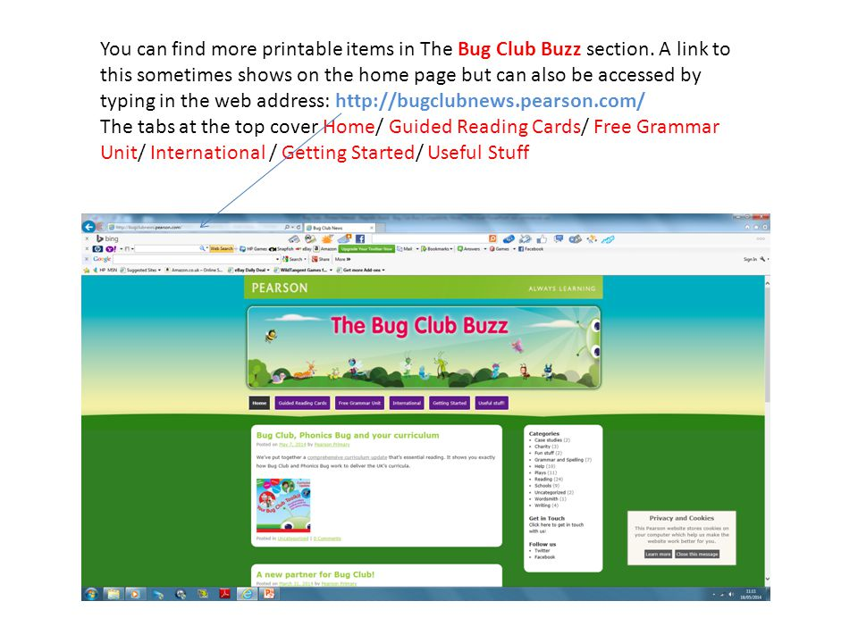 You can find more printable items in The Bug Club Buzz section