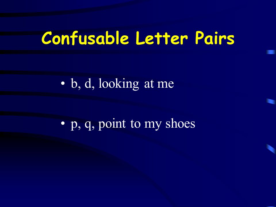 Confusable Letter Pairs