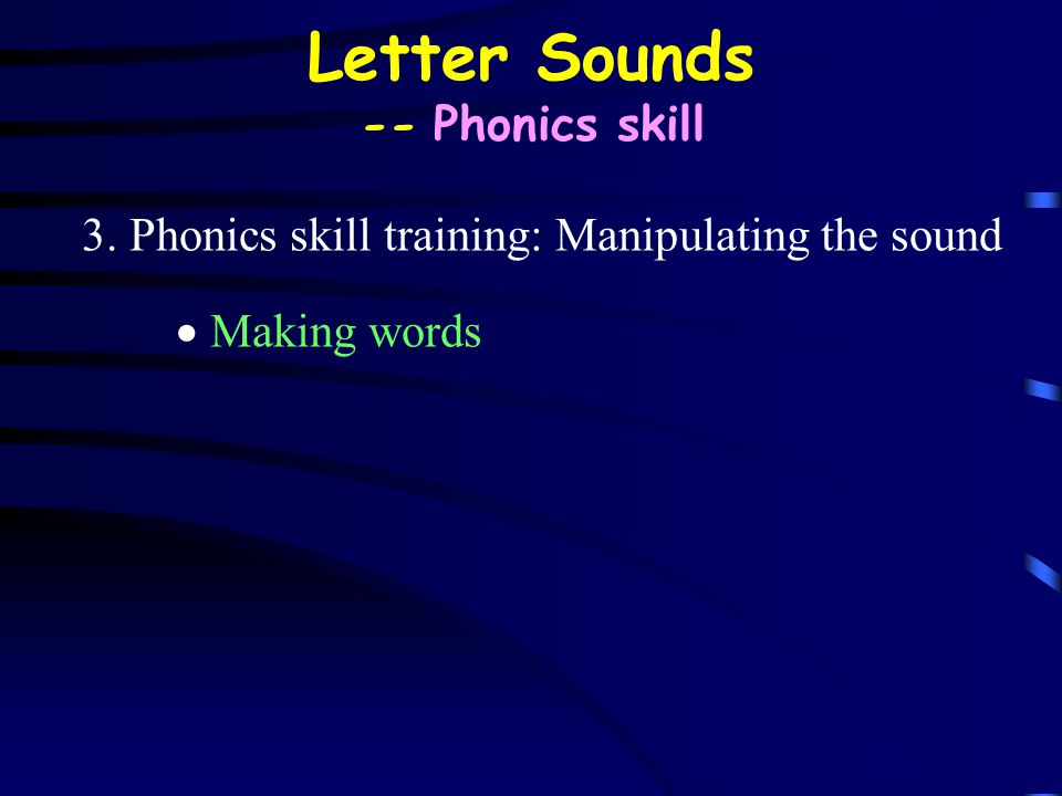 Letter Sounds -- Phonics skill