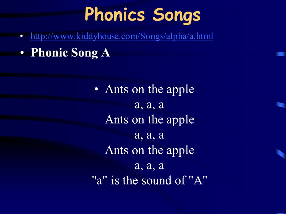 Phonics Songs Phonic Song A