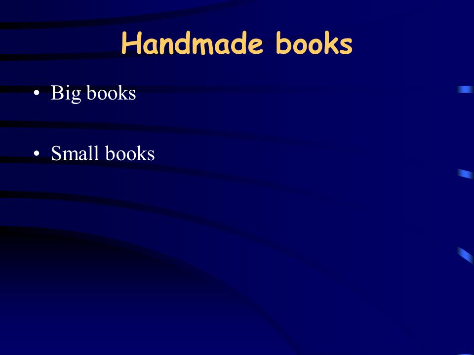 Handmade books Big books Small books