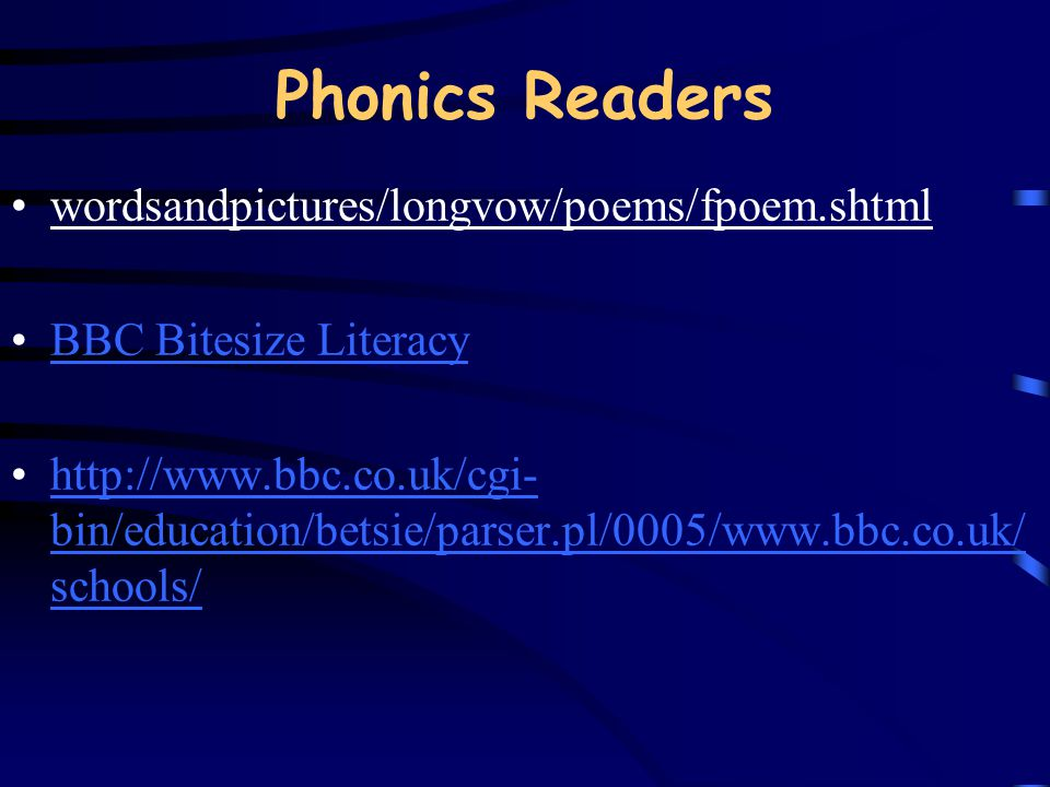 Phonics Readers wordsandpictures/longvow/poems/fpoem.shtml