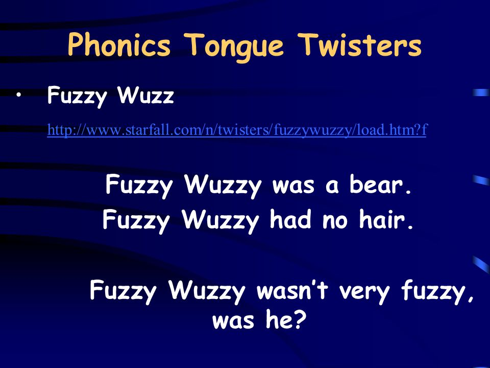 Phonics Tongue Twisters