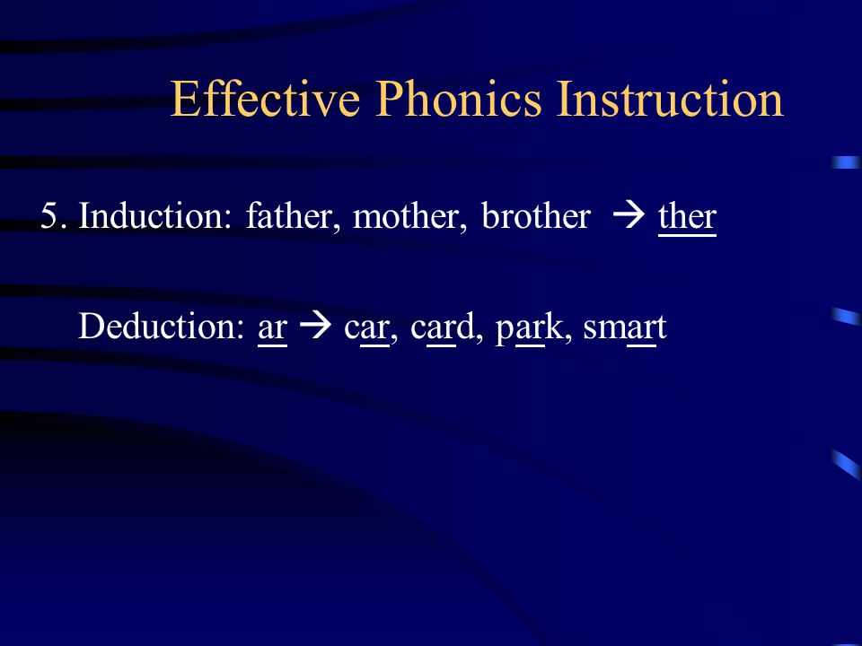 Effective Phonics Instruction