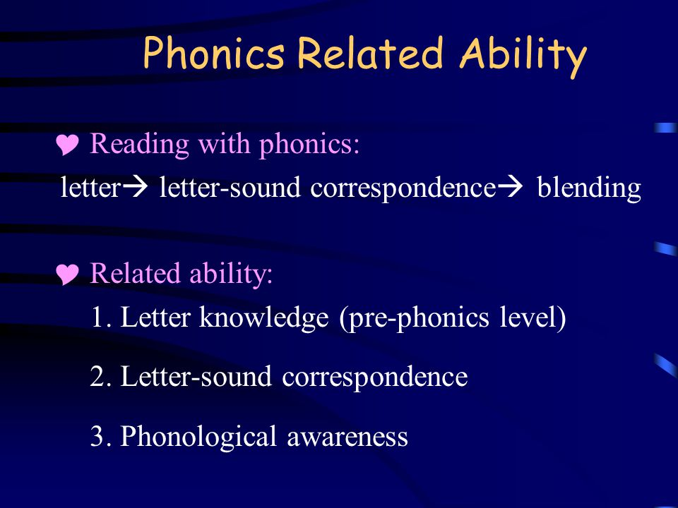 Phonics Related Ability