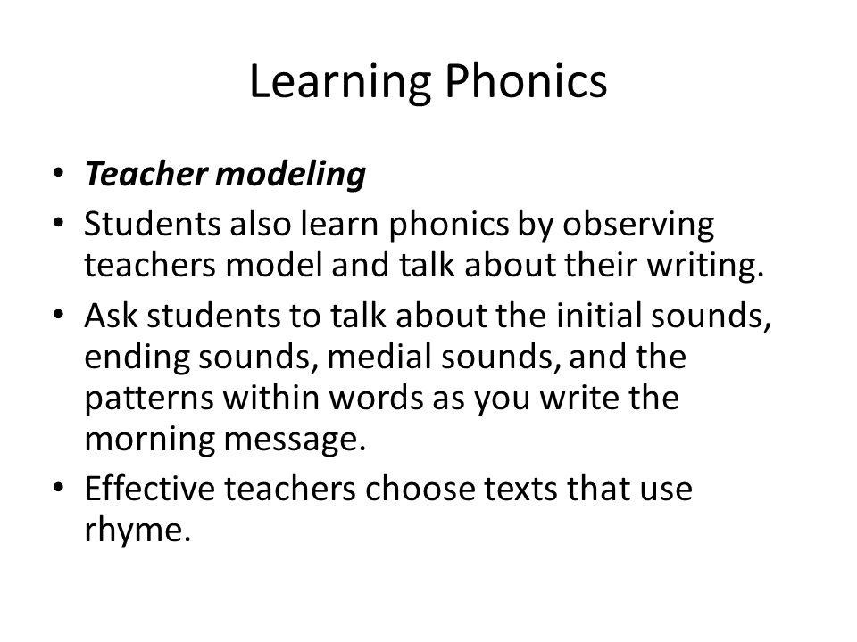 Learning Phonics Teacher modeling