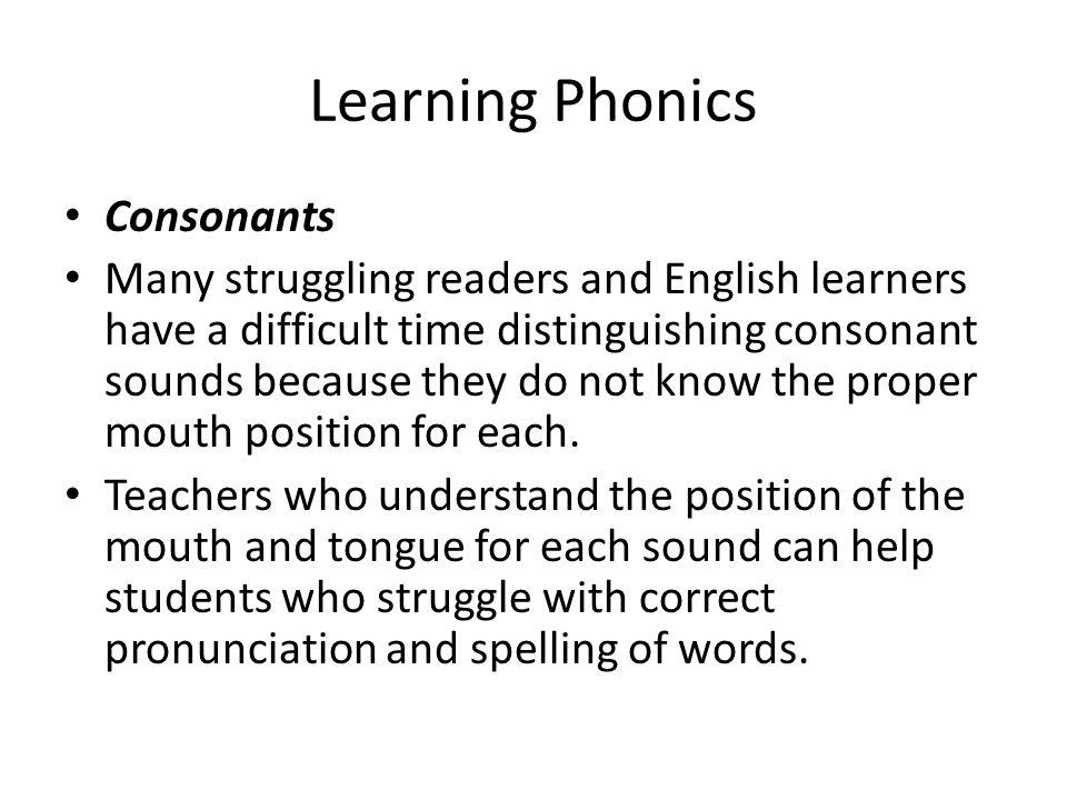 Learning Phonics Consonants