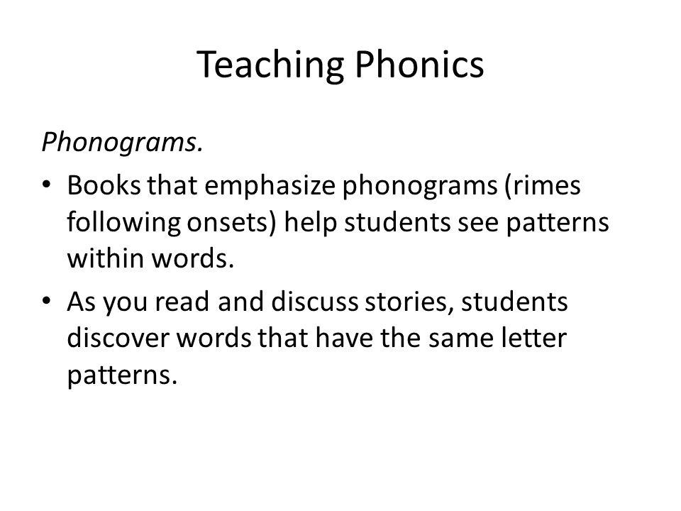 Teaching Phonics Phonograms.