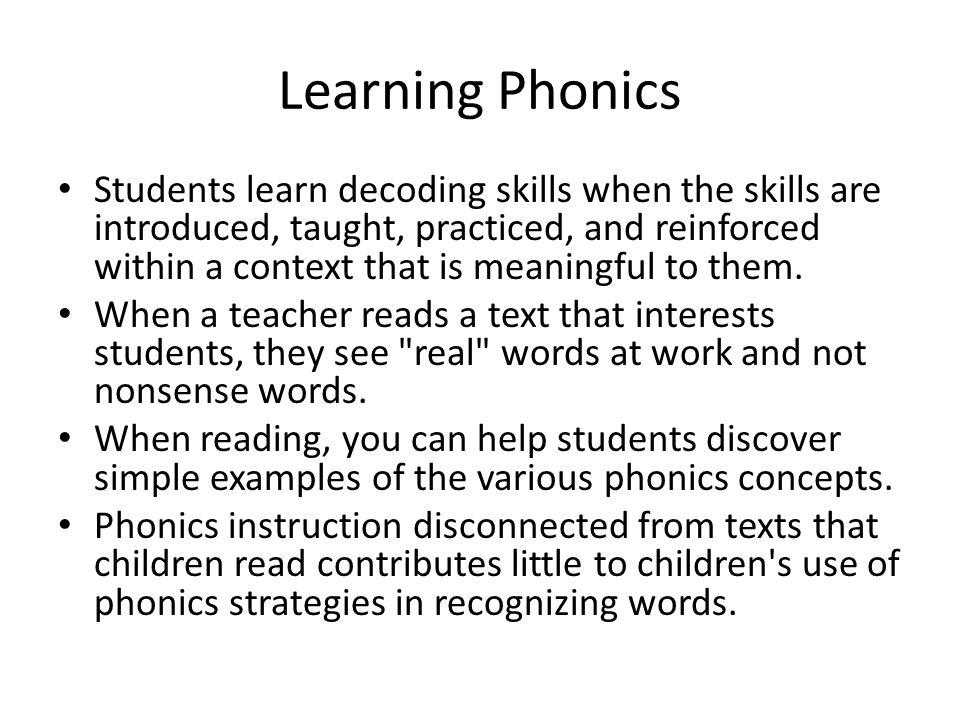 Learning Phonics