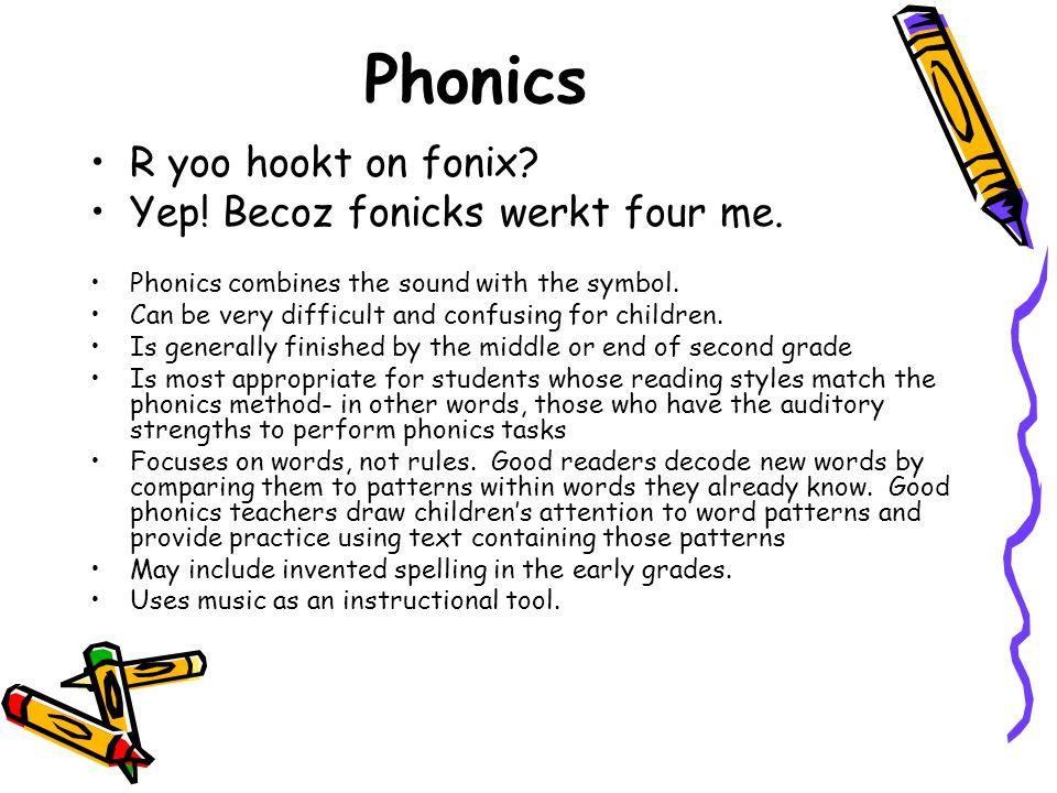 Phonics R yoo hookt on fonix Yep! Becoz fonicks werkt four me.