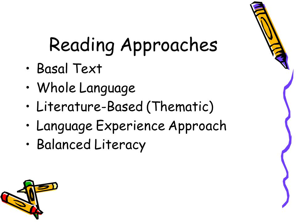 Reading Approaches Basal Text Whole Language