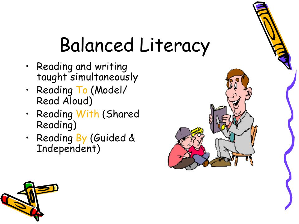 Balanced Literacy Reading and writing taught simultaneously
