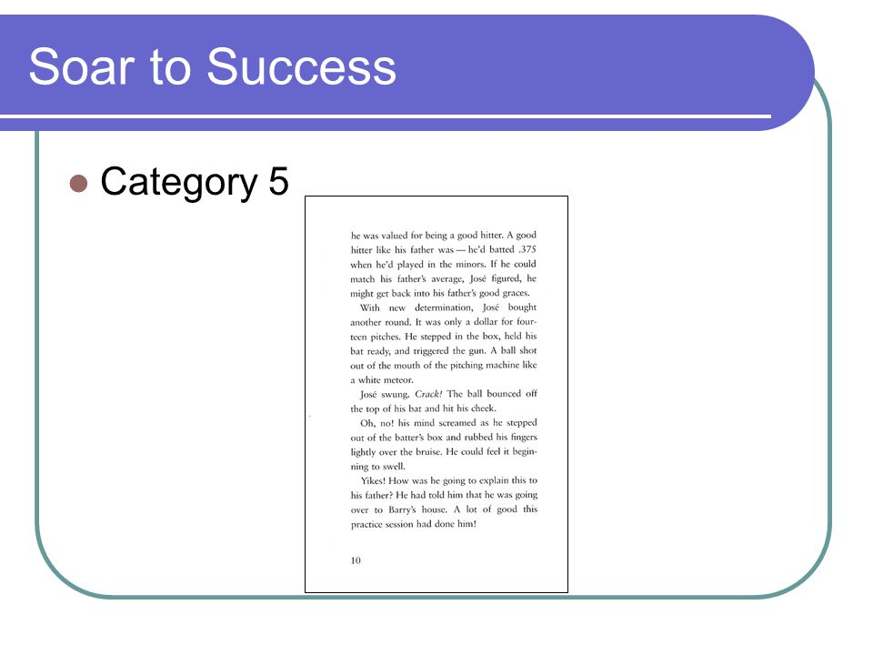 Soar to Success Category 5