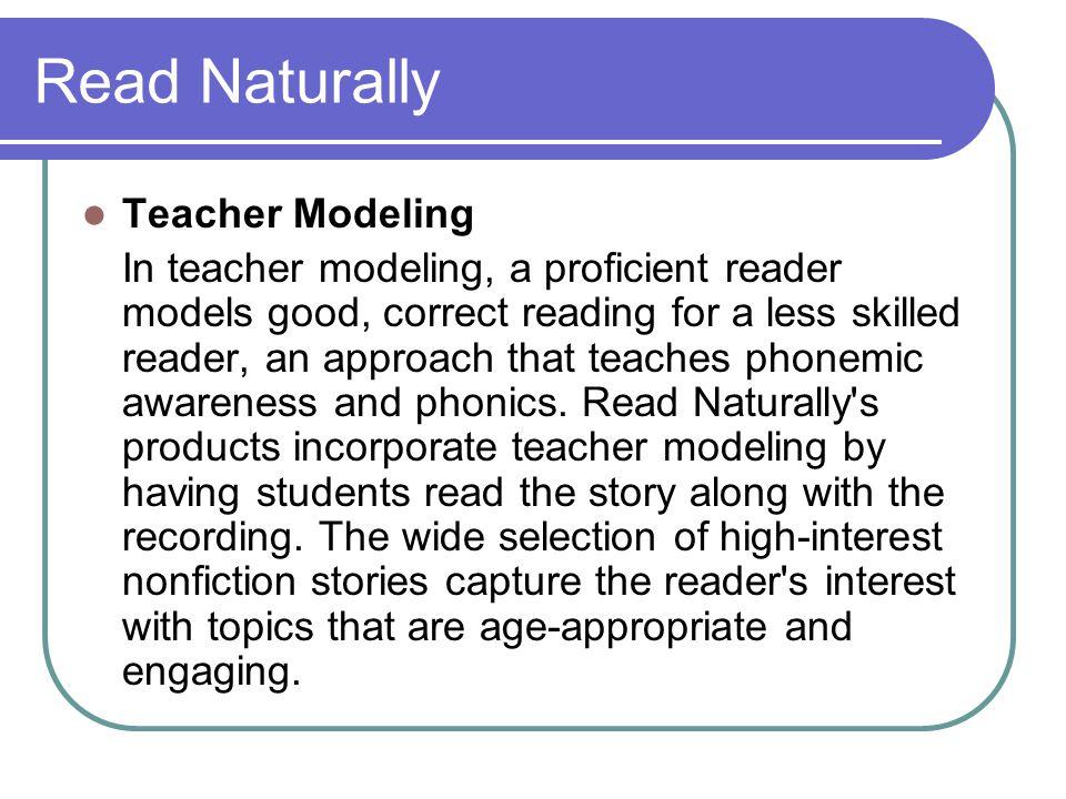 Read Naturally Teacher Modeling