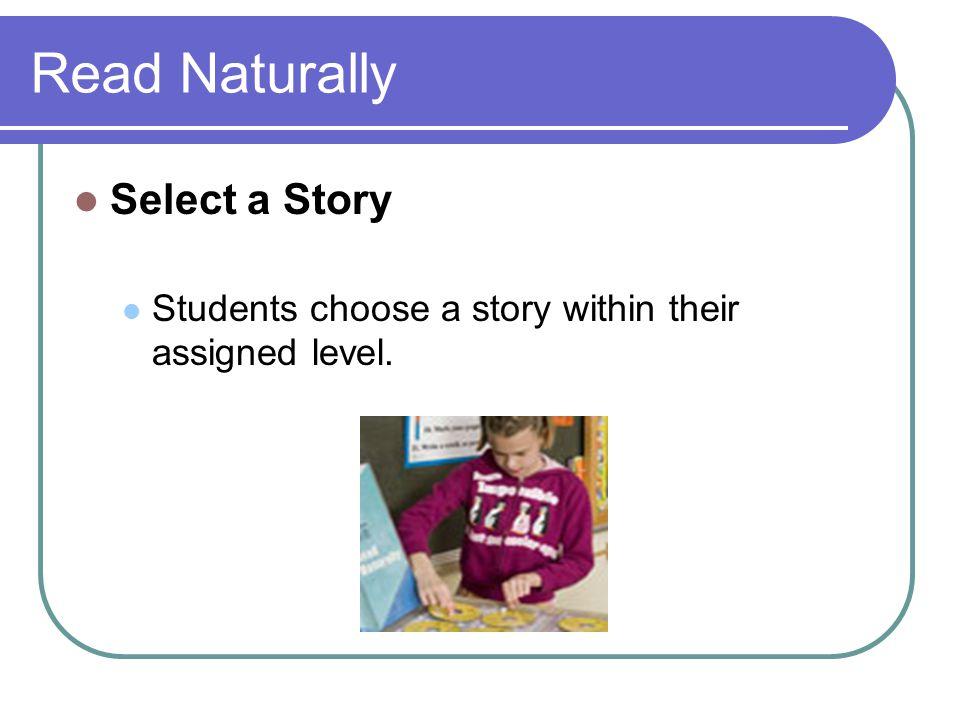 Read Naturally Select a Story
