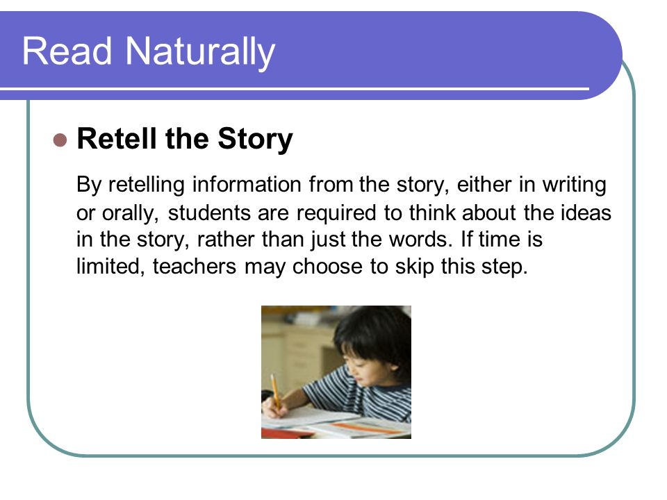 Read Naturally Retell the Story