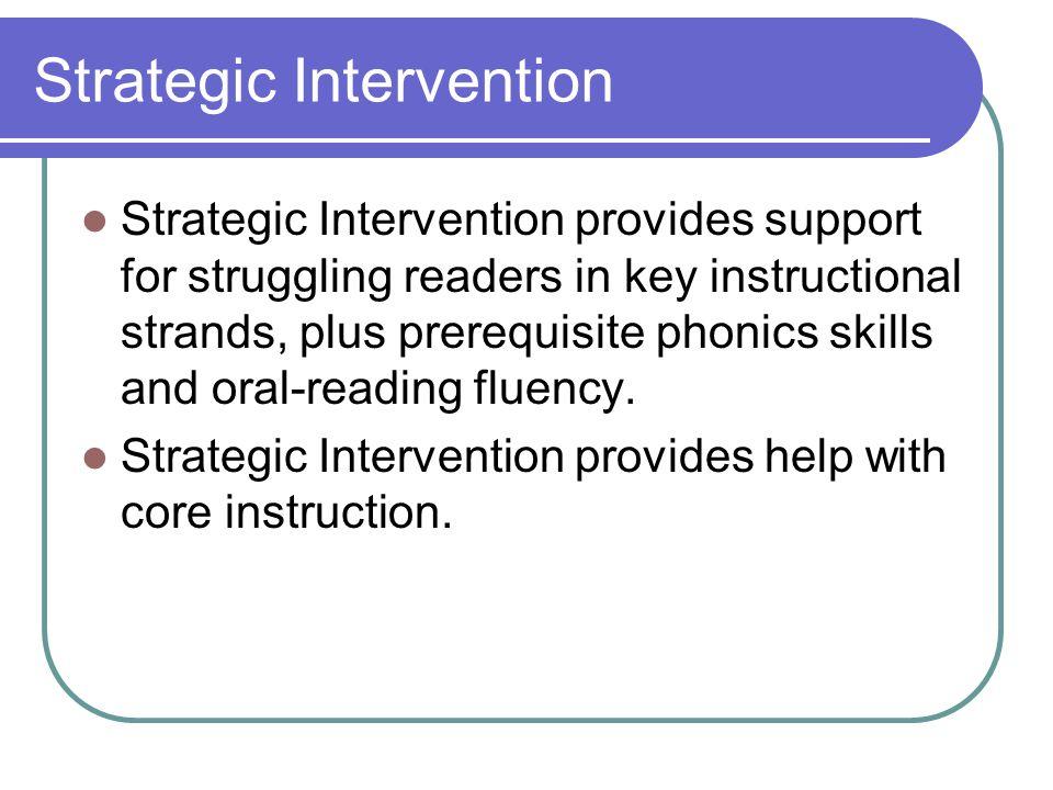 Strategic Intervention