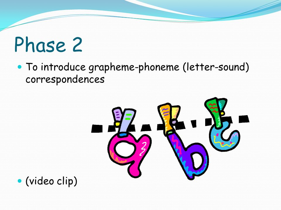 Phase 2 To introduce grapheme-phoneme (letter-sound) correspondences