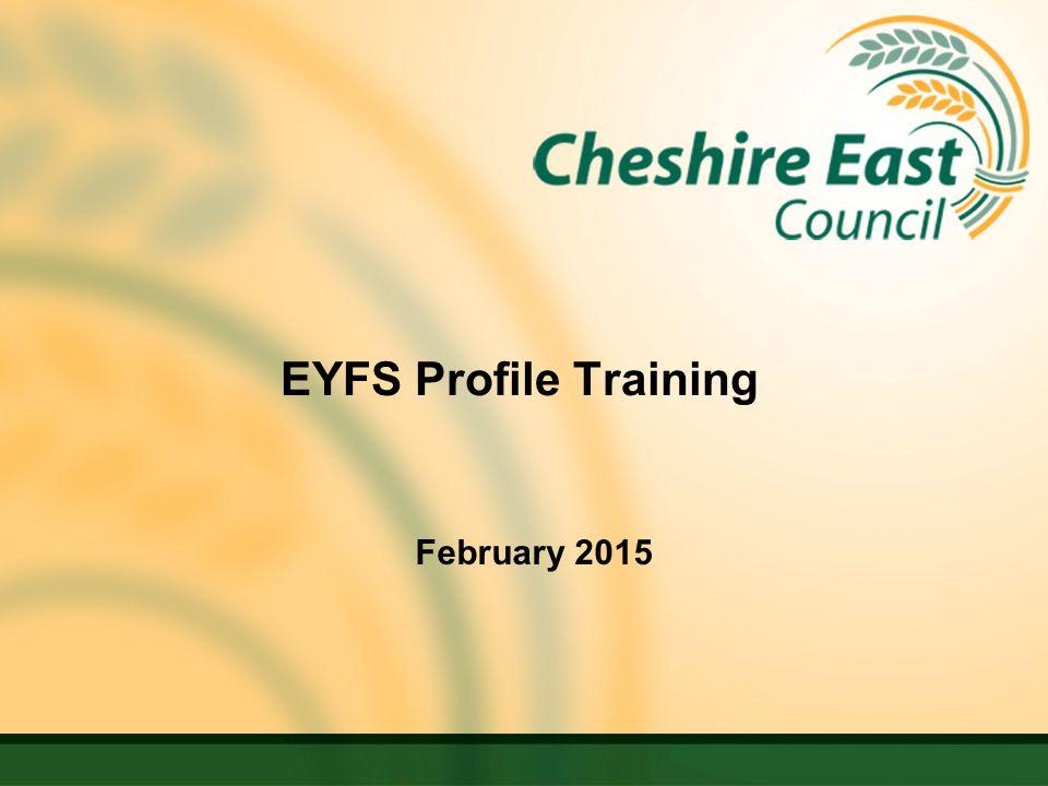 EYFS Profile Training February 2015