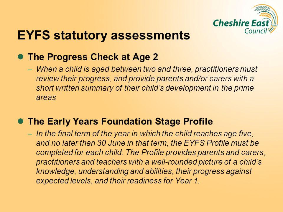 EYFS statutory assessments