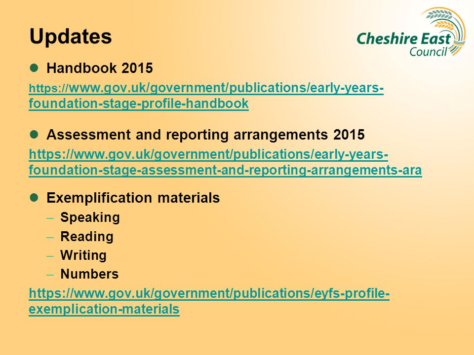 Updates Handbook 2015 Assessment and reporting arrangements 2015