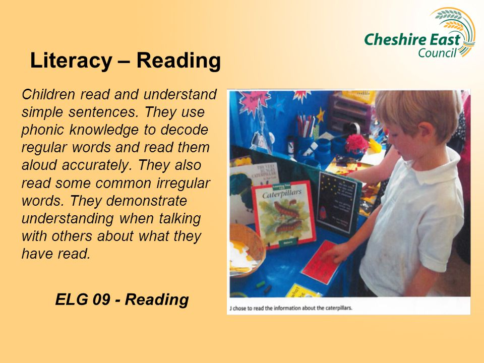 Literacy – Reading ELG 09 - Reading