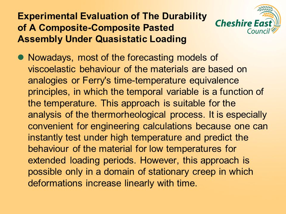 Experimental Evaluation of The Durability of A Composite-Composite Pasted Assembly Under Quasistatic Loading