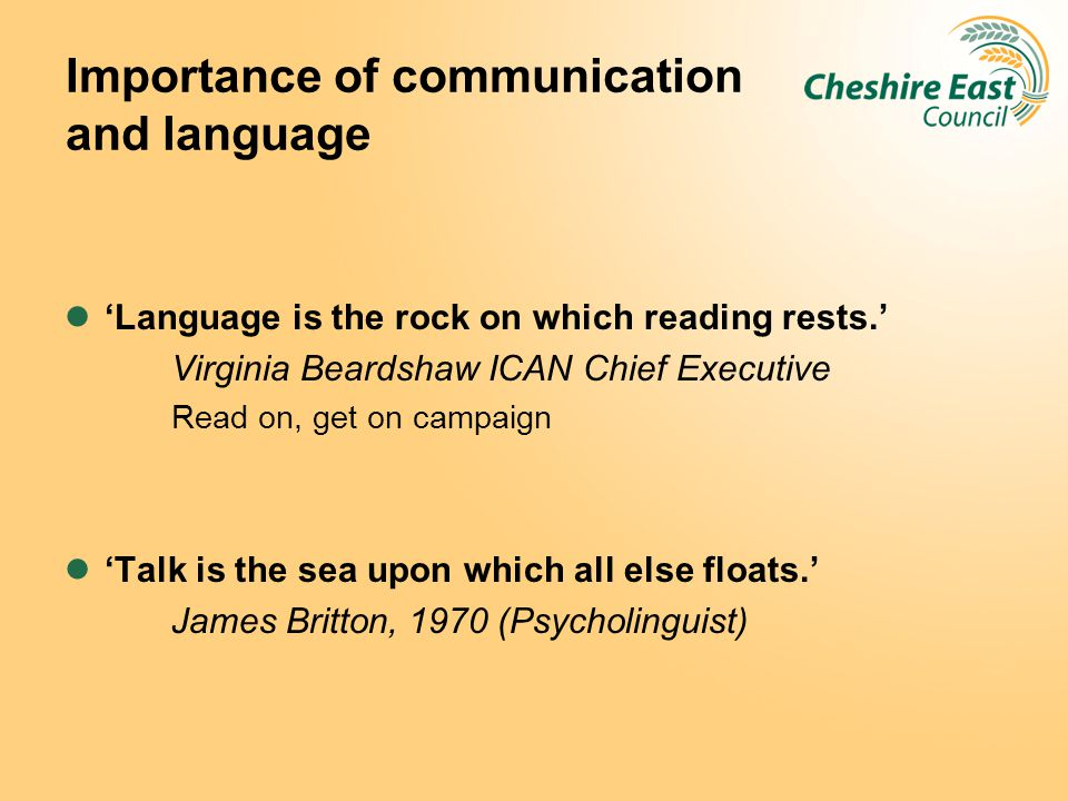 Importance of communication and language