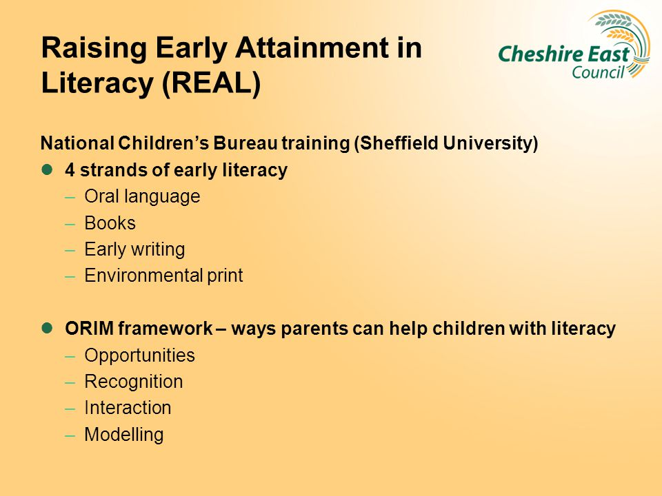 Raising Early Attainment in Literacy (REAL)