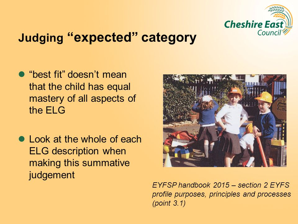 Judging expected category