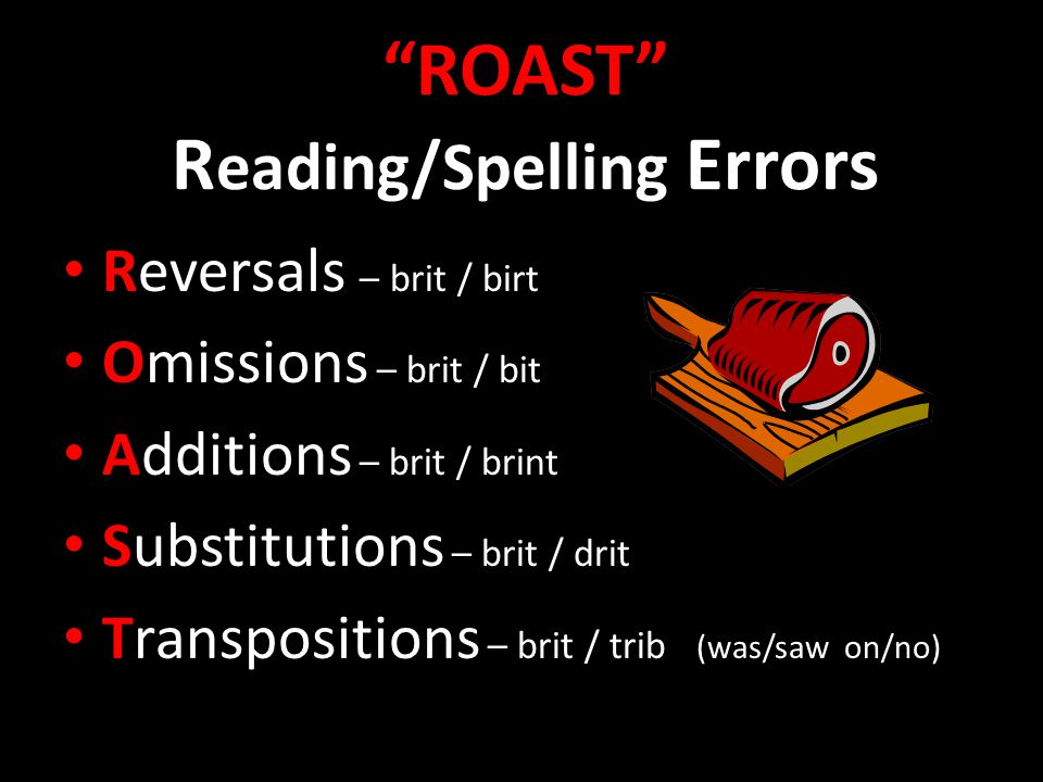 ROAST Reading/Spelling Errors