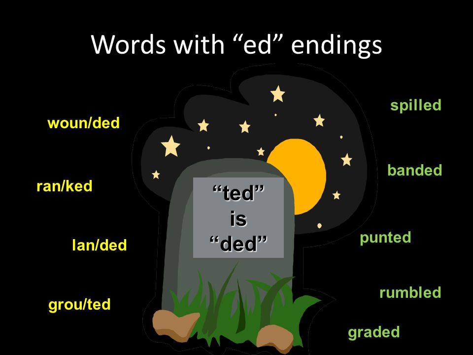 Words with ed endings