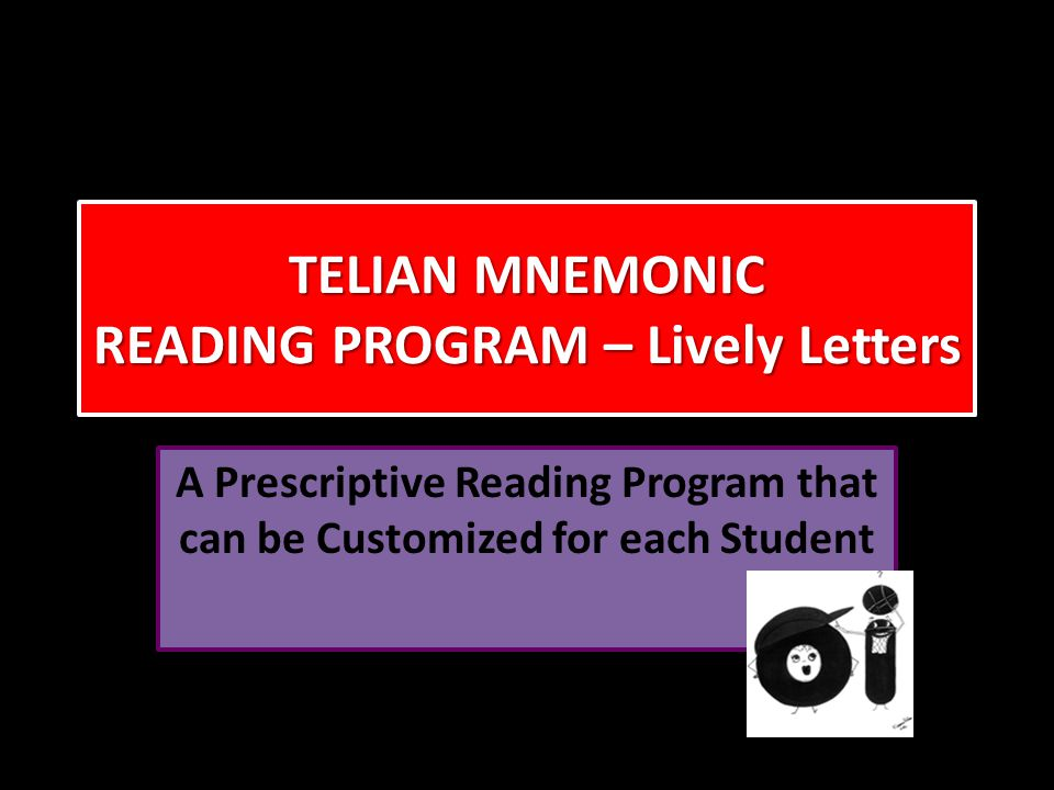TELIAN MNEMONIC READING PROGRAM – Lively Letters