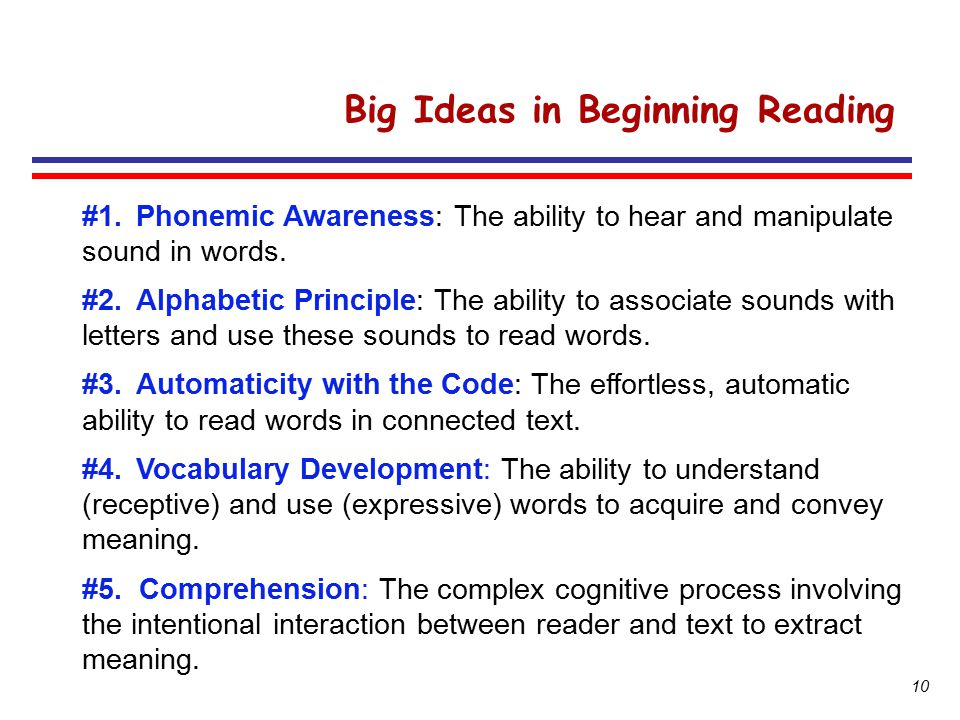 Big Ideas in Beginning Reading