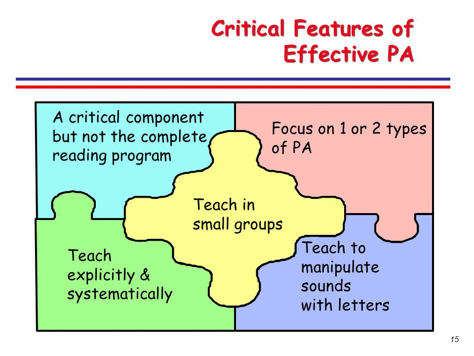 Critical Features of Effective PA